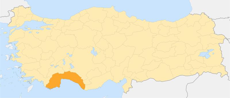 Turcja i województwo Antalyi