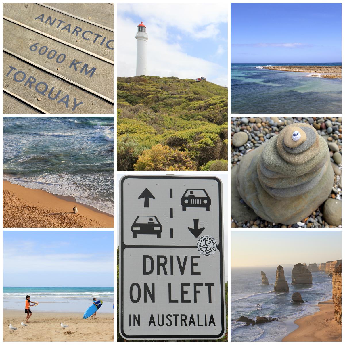 Etap 1: Great Ocean Road, czyli brzegiem oceanu z Melbourne w kierunku zachodnim.