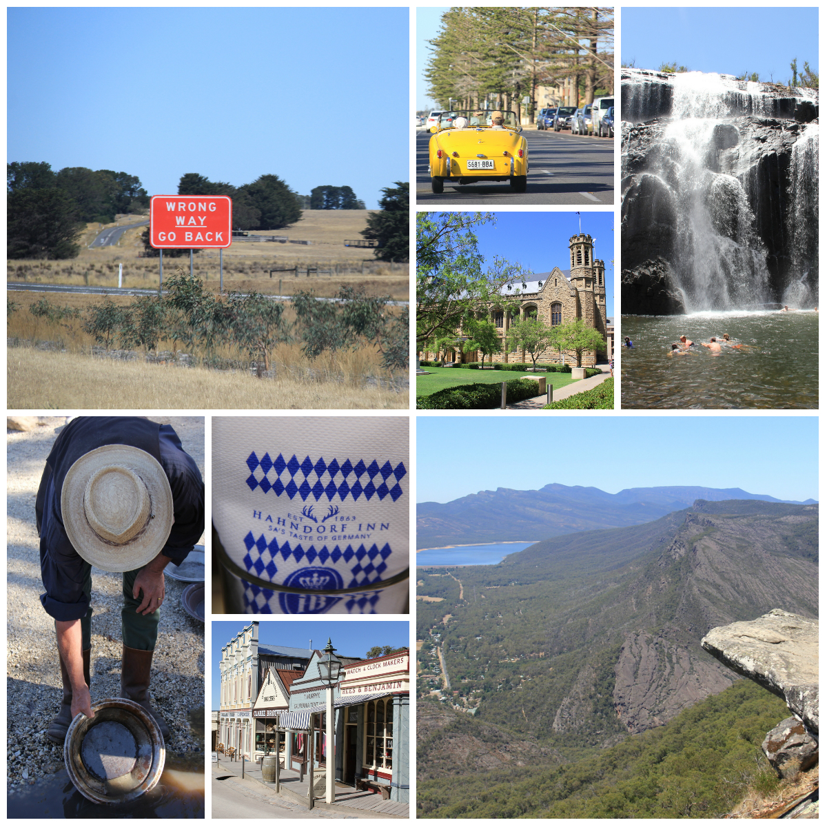 Etap 3: Australia Południowa, Adelaida, Park Narodowy Grampians i Wodospad MacKenzie, miasteczko Ballarat i Souvereign Hill - miasteczko poszukiwaczy złota.