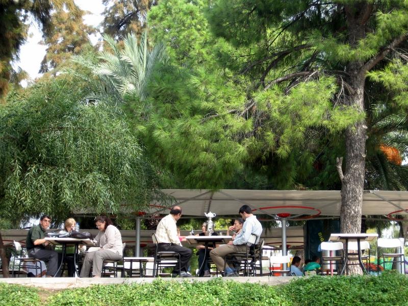 W parku na herbatce z rodzinka